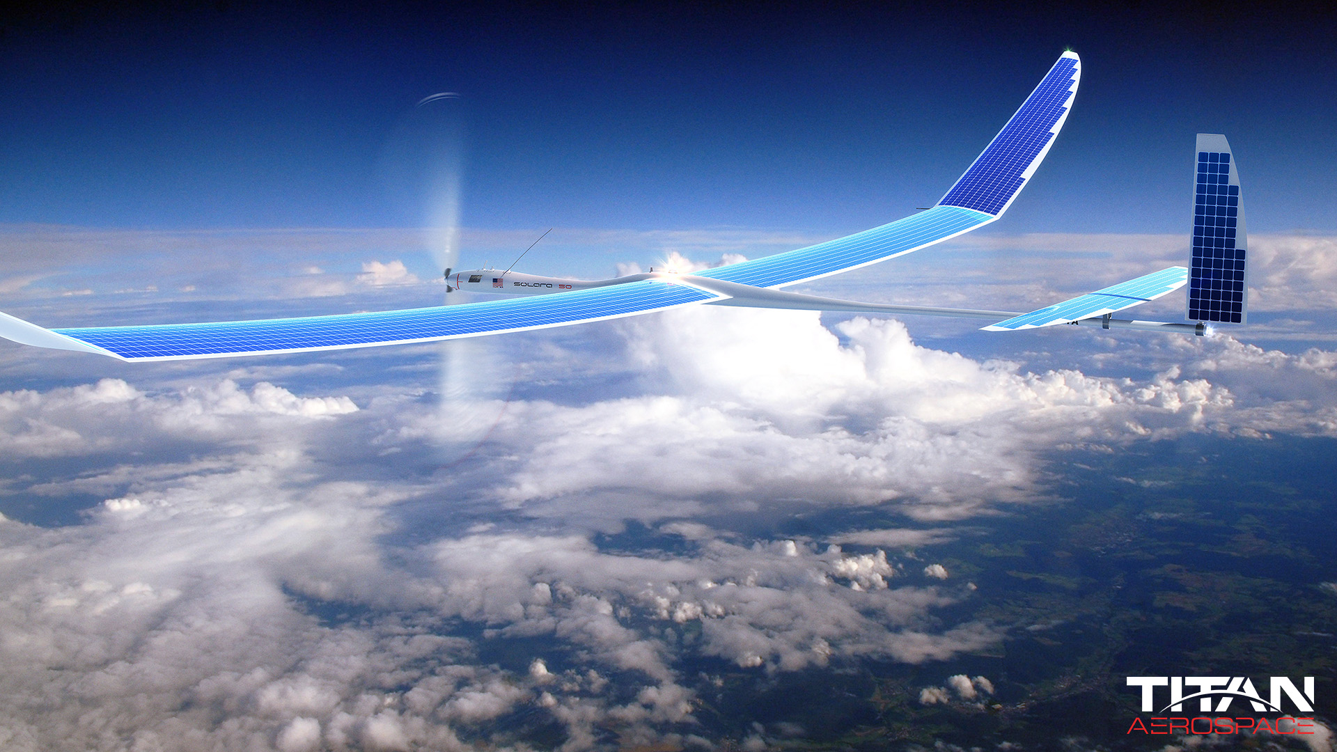 Solar Powered Plane capable of Staying aloft for Years