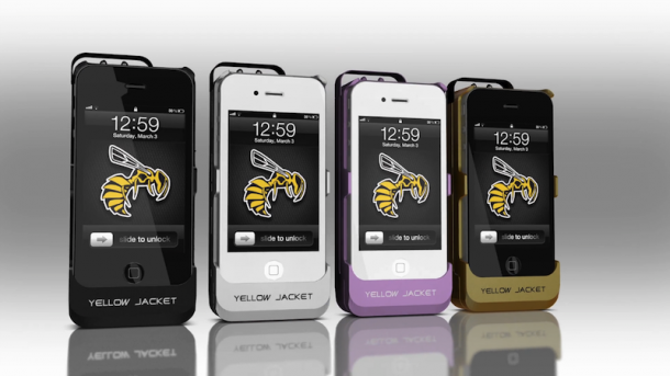 Yellow-Jacket-stun-gun-iPhone-case
