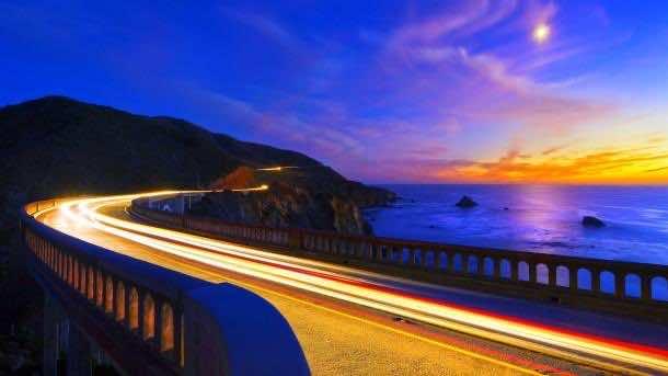 Bixby Bridge at dusk.