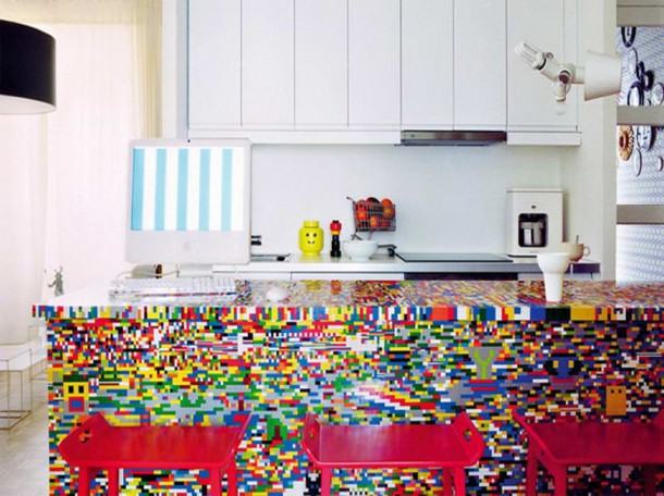 1. Lego Kitchen Island