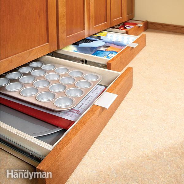 10. Use up all of your space by using under cabinet drawers