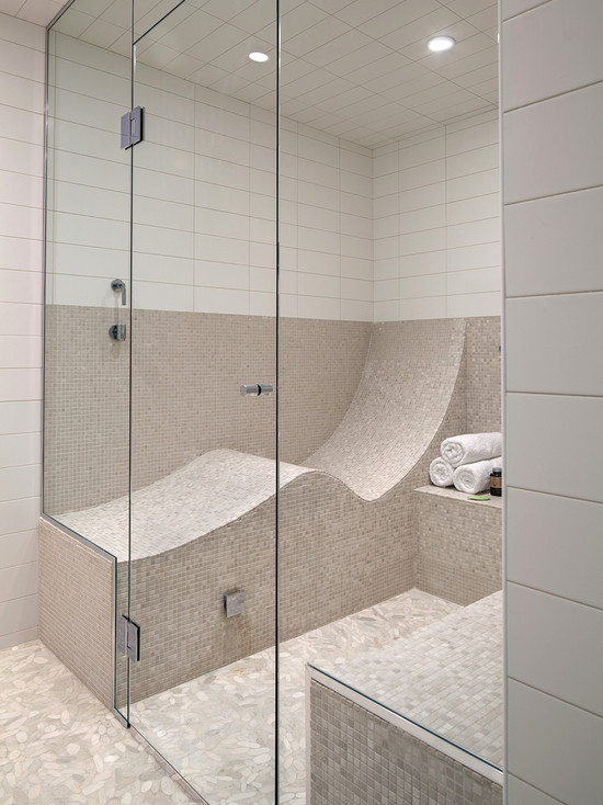 13. Turn your shower into a steam room that you can lie down in
