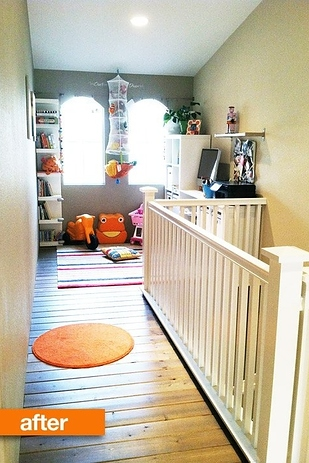 19. Build a playroom above a stairway 2!