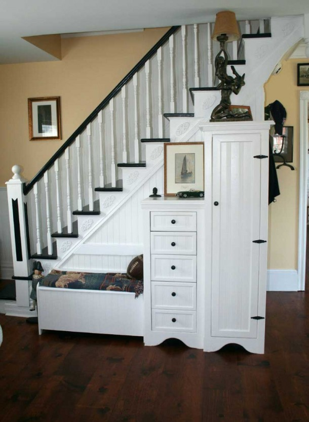 4. Store things under the staircase