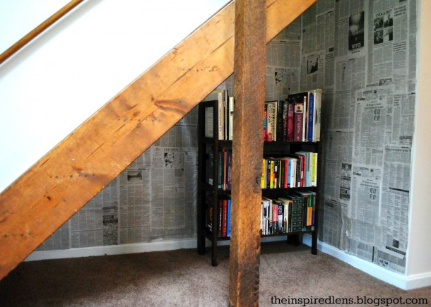 5. Book nook under the stairs!