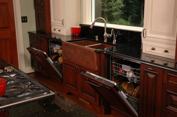 7. Have two dishwashers instead of one without taking space!