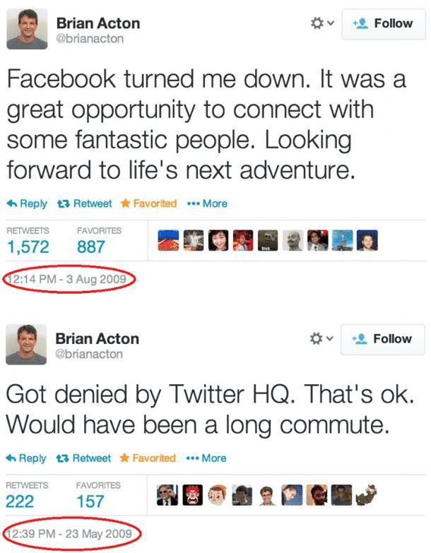 Brian Acton Tweets