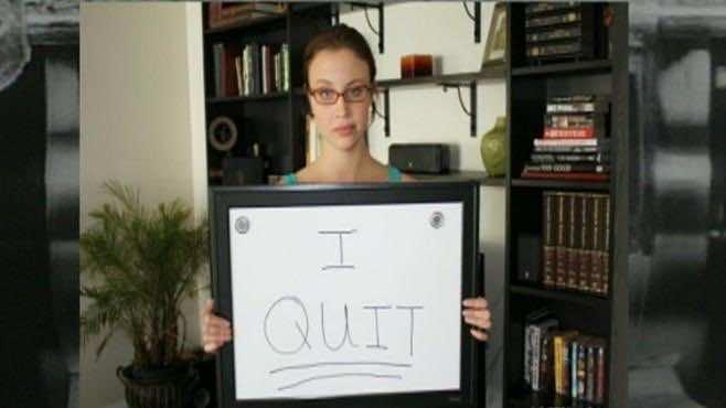 Secretary quits job