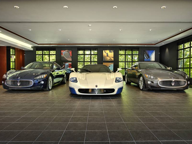 Ever wondered where billionaires park their supercars for Car garage