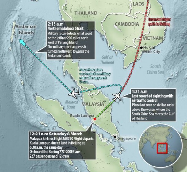 MH370 Flight path