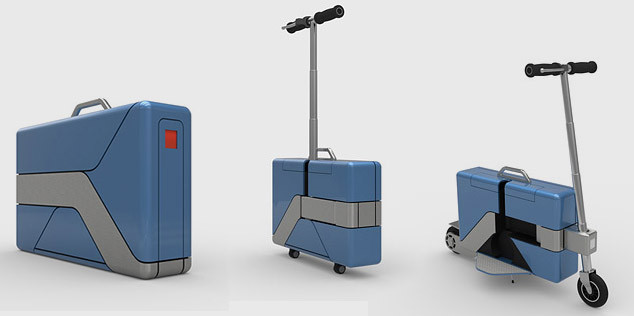 This Amazing Briefcase Transforms Into An Electric Scooter