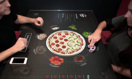 pizza hut ordering table