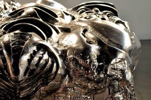 3D printed liquid metal Ford Turino 3