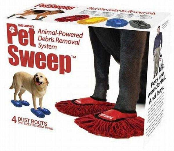 5. Pet-mopping shoes.