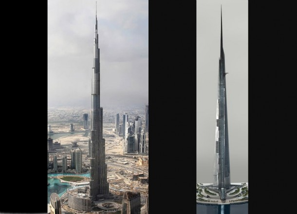 Kingdom Tower vs Burj Khalifa