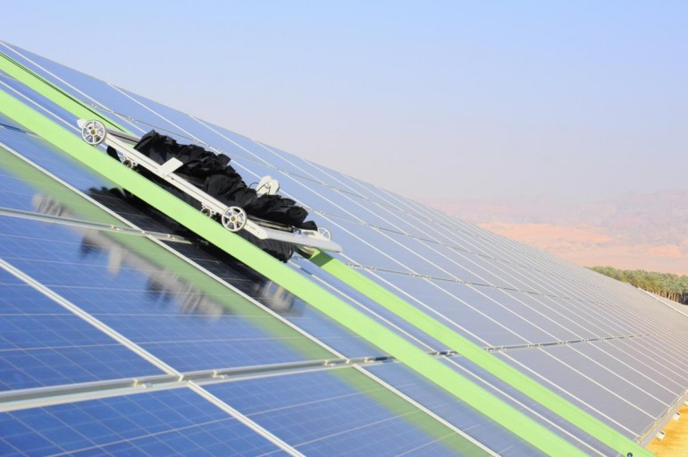 self cleaning solar panel