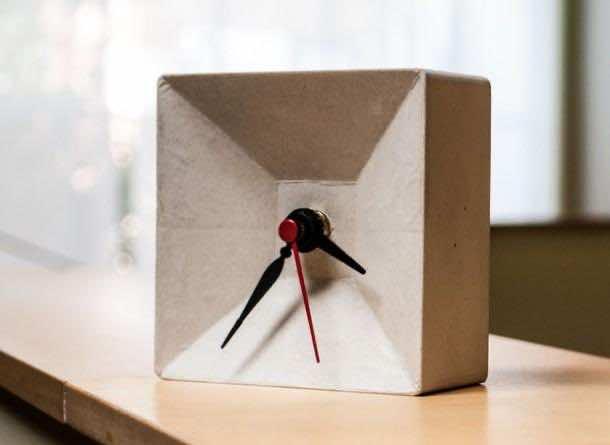 1. DIY Concrete Clock