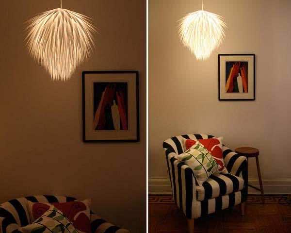 1. Starbust paper light. 2