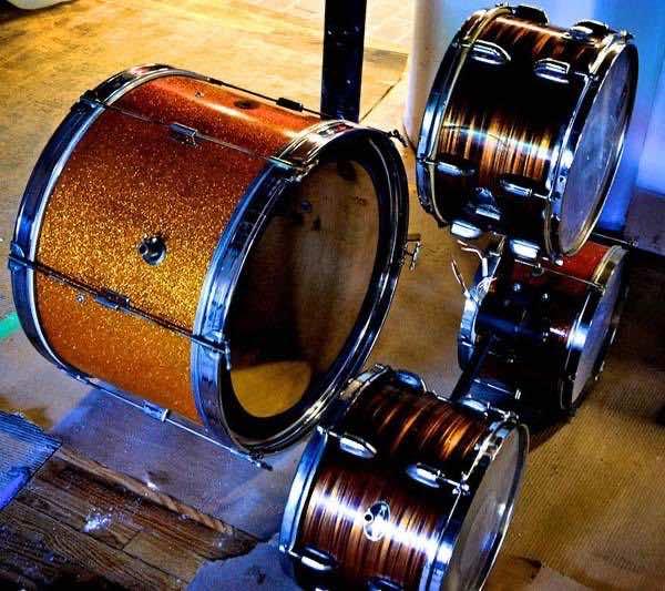 12. Old drum kit
