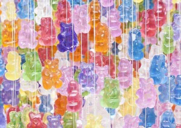 14. Gummy chandelier
