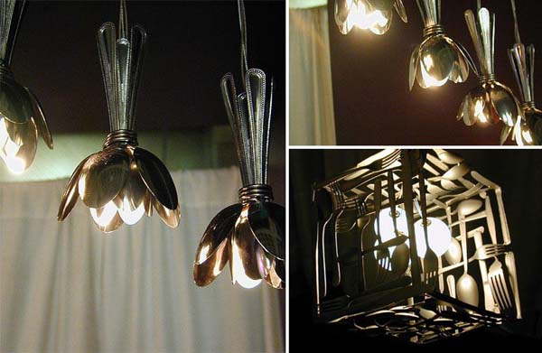 5. Silverware Lamps