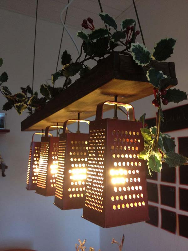 6. Grater lamps