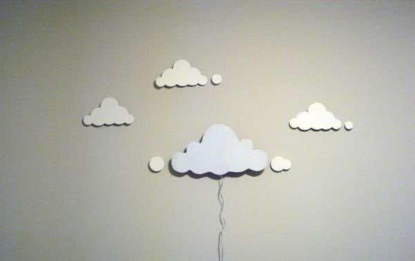 8. Cloud cutout lamp
