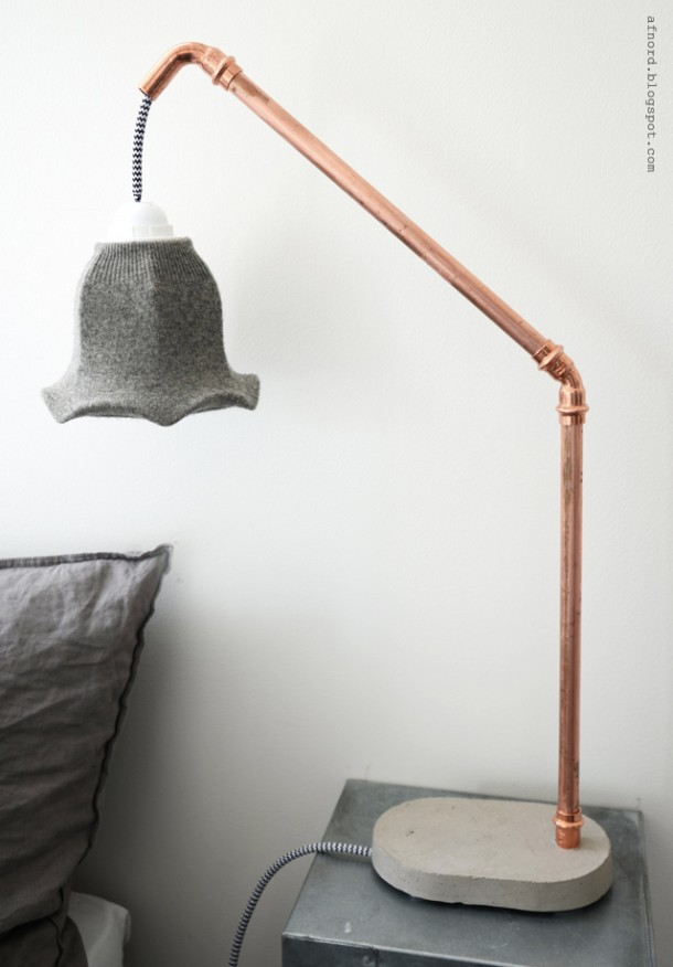 9. A Cement Bedside lamp