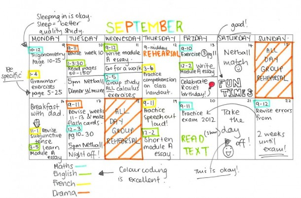 9. Get a study timetable organized and prioritize.