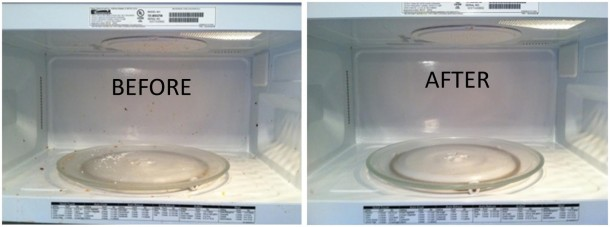 9. Microwave cleaning
