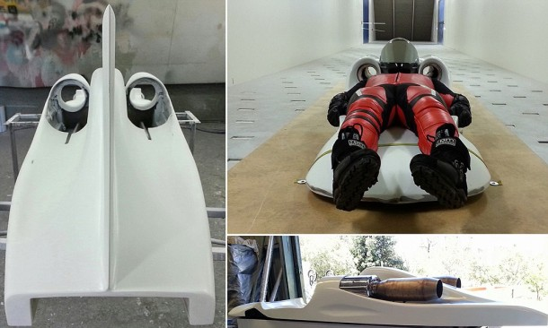 Australian man builds 300 mph jet-powered street luge in attempt to break world record, Australia, May 2014