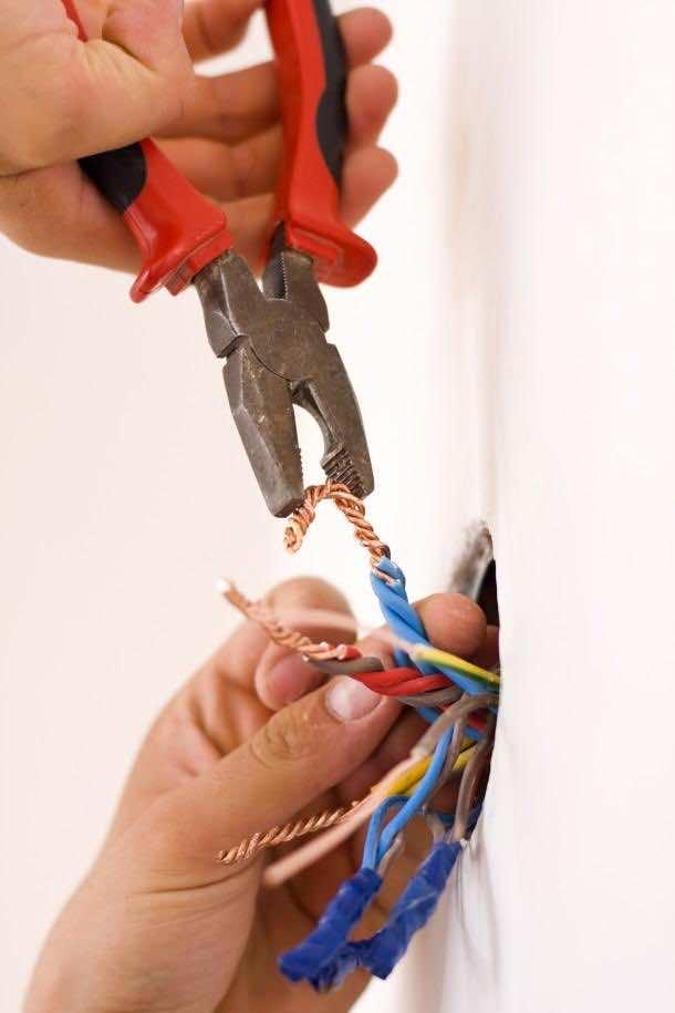 Handyman working closeup