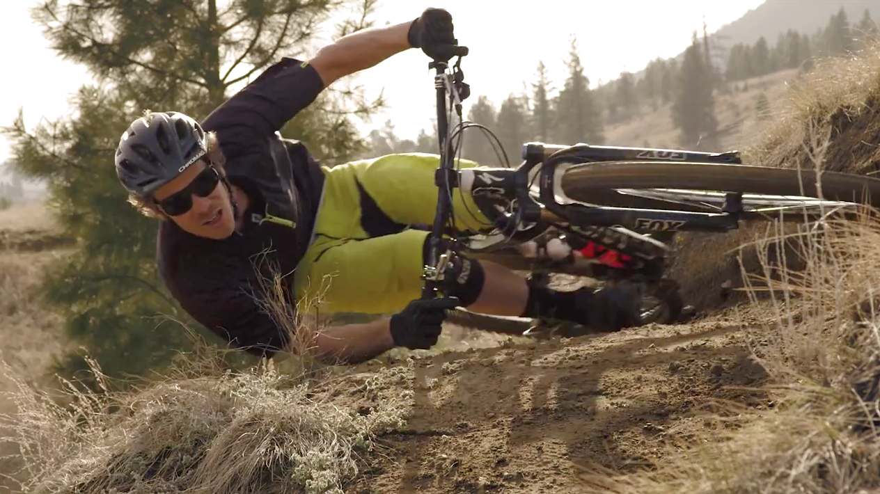 Watch As This Gravity Defying Biker Goes Almost Parallel To The Ground On Turns