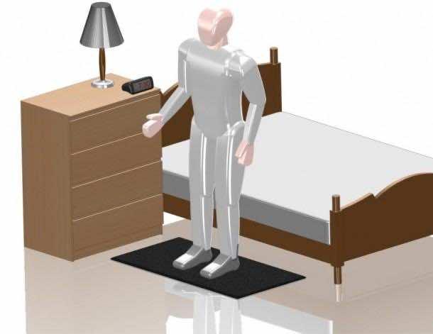 1. Floormat Alarm Clock