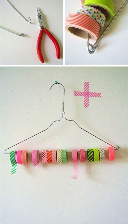 12. DIY Tape & Ribbon Holder