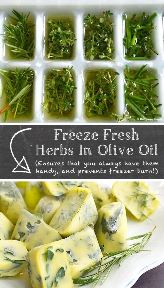 2. Freeze Herbs In Oil