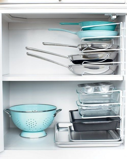 20. Vertical Bakeware Storage