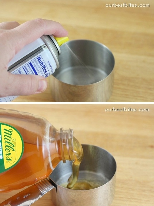 6. Coat Cups With Non-Stick Spray
