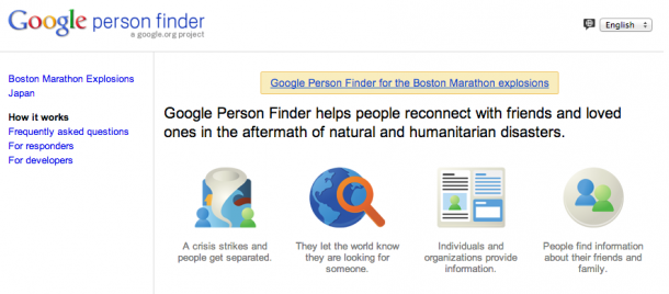 7. Google Person Finder