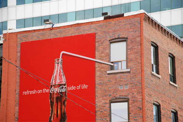 9. Coca-Cola Refresh on the Side of Life