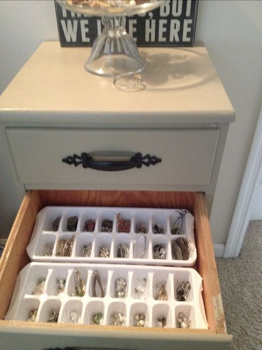 9. Ice Cube Tray Drawer Dividers