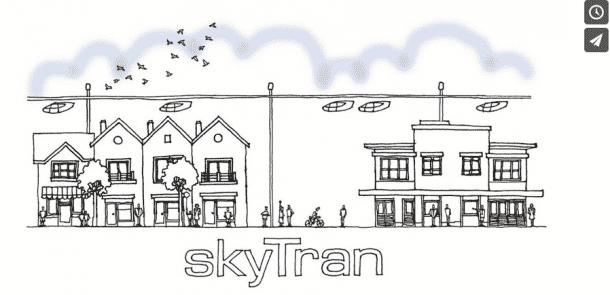 Hover Car SkyTran sketch