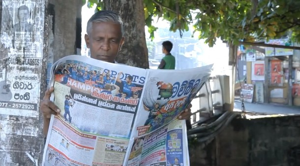 Sri Lankan Newspaper Mawbima fighting Dengue