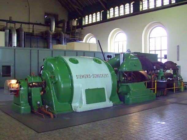 Siemens-Schuckert Dampfturbine