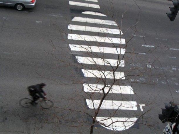 12. Footprint crosswalk in Montreal, Canada