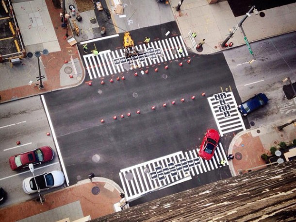 16. Hopscotch crosswalk in Baltimore, Maryland, U.S.