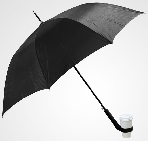 19. Umbrella with a Cupholder