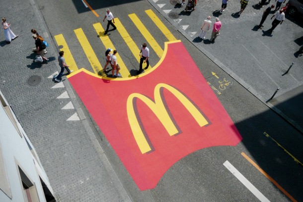 2. McFries crosswalk in Zurich, Switzerland