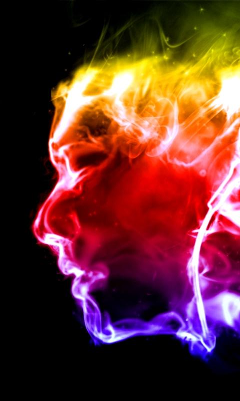 HD Phone Wallpapers flaming face