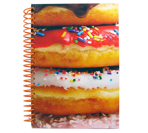 22. Donut scented notebook